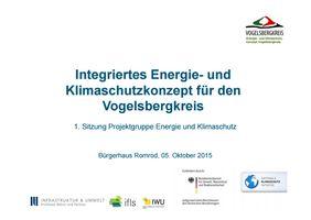 Präsentation Integriertes Klima- und Energieschutzkonzept für den Vogelsbergkreis Vorschau